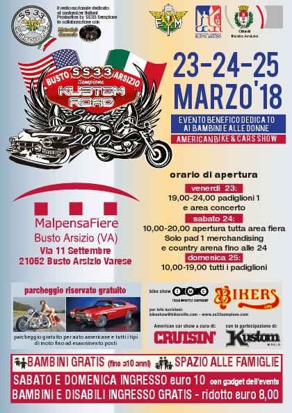 Locandina Kustom Road 2018 - 23 Marzo 2018 -> 25 Marzo 2018