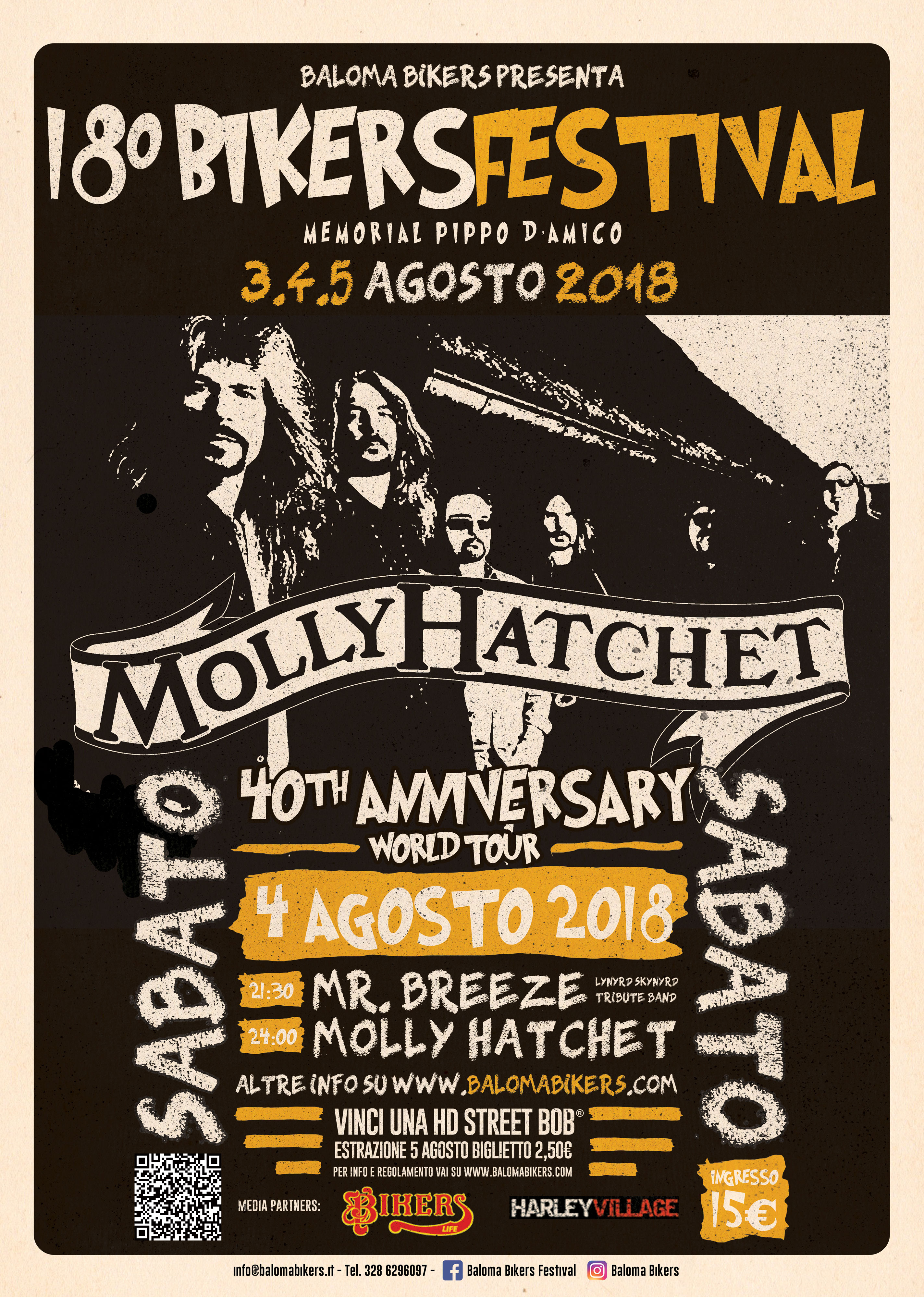 18° Baloma Bikers Festival - Live Molly Hatchet