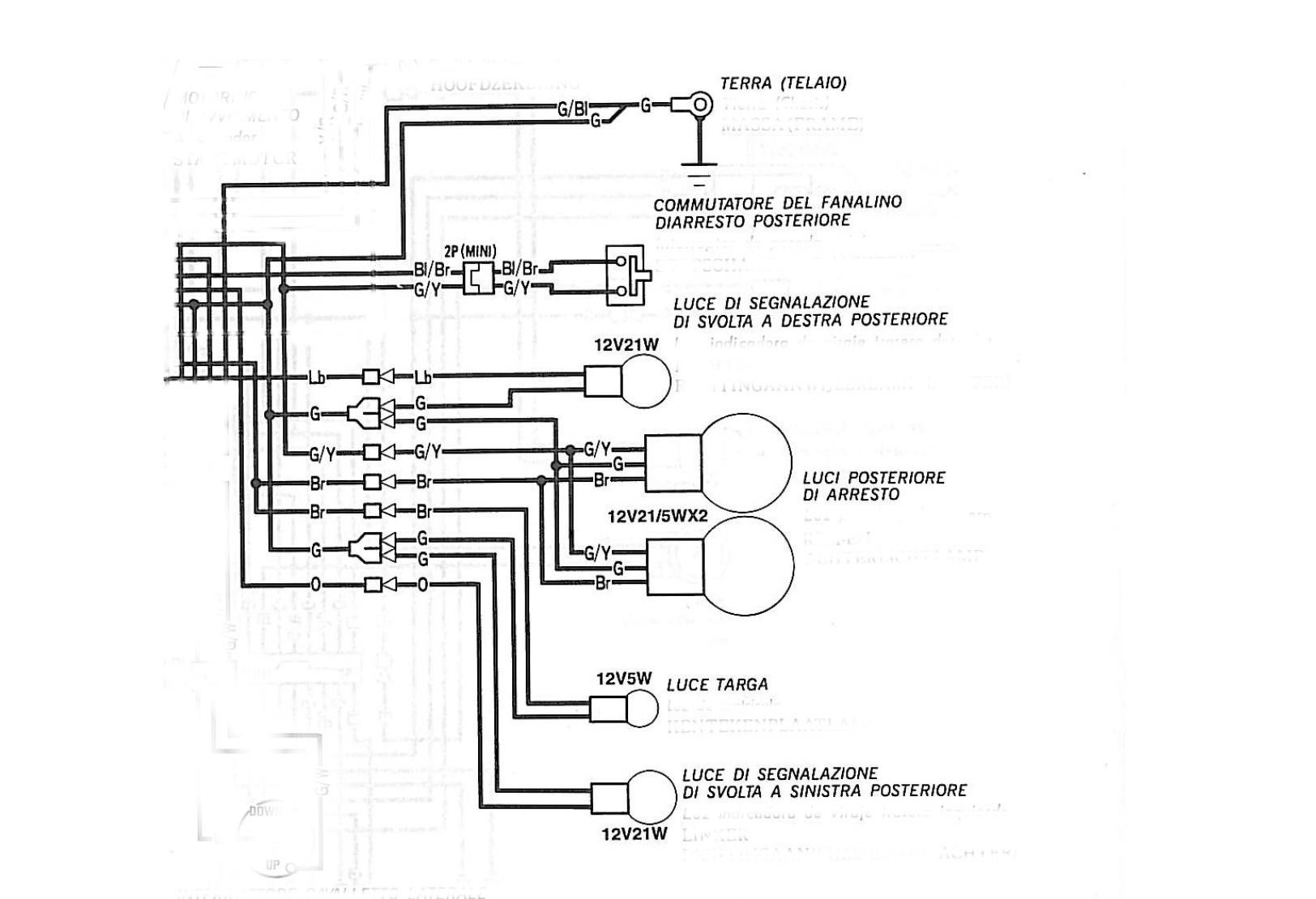 Schema Elettrico Honda Shadow 600 : Malfunzionamento luce targa shadow custommania